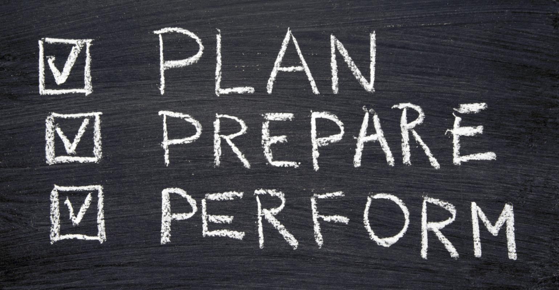 Planning vs. Preparation